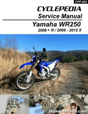 Yamaha WR250R WR250X Printed Motorcycle Service Manual by Cyclepedia - 800-42...