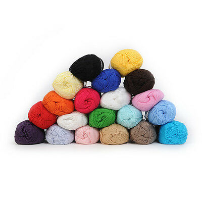 Wholesale! Soft Smooth Bamboo Cotton Knitting Yarn Fingering 20 Colors
