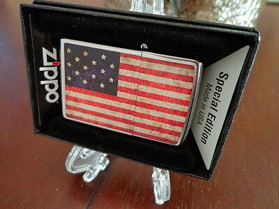 THE STAR SPANGLED BANNER 1795 FLAG USA FORT McHENRY ZIPPO LIGHTER MINT IN BOX