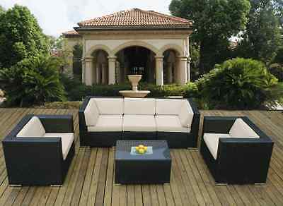 Ohana Outdoor Patio Wicker  Sectional Furniture 6pc