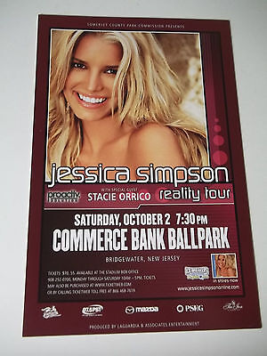 VINTAGE JESSICA SIMPSON Concert Hand Bill Herald Reality Tour NJ