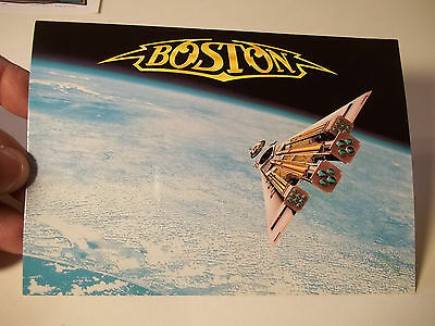 VINTAGE 1987 BOSTON ROCK BAND Third Stage Record Promotional Postcard