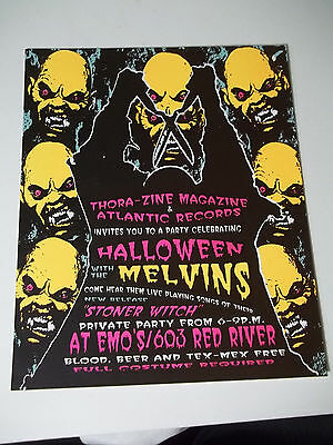 VINTAGE Halloween with THE MELVINS Private Concert  EMO'S RED RIVER hand bill
