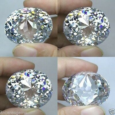 If 355+ Cts Huge Oval Closed Cut (40X30 Mm Approx) Lab Clear White Diamond  B6