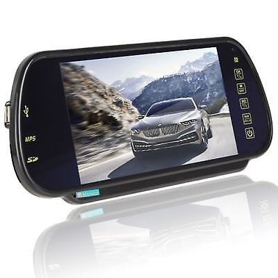 7 Inch TFT Color LCD Bluetooth BT MP5 Car Rearview Mirror Monitor For Dodge