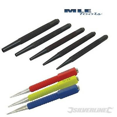 Silverline Nail Punch set 3 & 5 pce pin punches DIY Tool PC14 412456