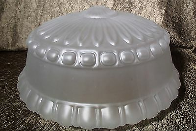 "Art Deco Style Frost Glass 10"" fitter Pan or Office Ceiling Flush Mount Shade"