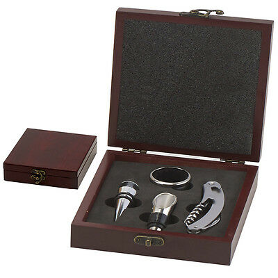 Personalised Engraved Wine Tool Set Corkscrew, Wine Stopper, Cutter(GS013)