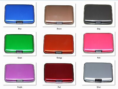 Aluminum RFID Blocking Credit Card Holder for Men & Women Stylish Travel Wallet