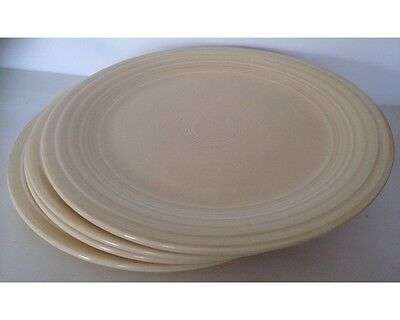 "Set of 4 Vintage Fiesta 9 & 1/2"" Ivory Dinner Plates"