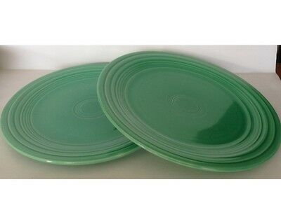 "Set of 2 Vintage Fiesta 9 & 1/2"" Green Dinner Plates"