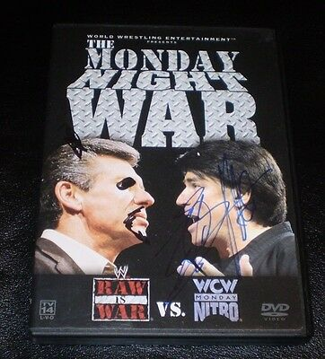 ERIC BISCHOFF SIGNED WCW WWE THE MONDAY NIGHT WAR DVD W/ ARTWORK AUTHENTIC NWO