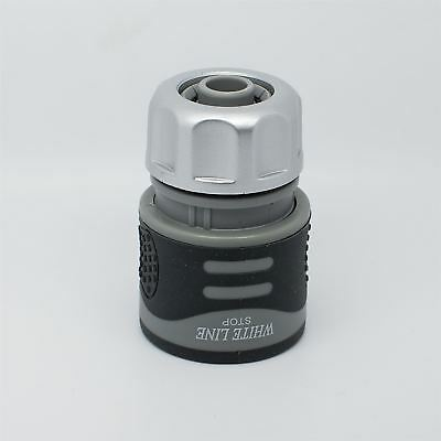 Hozelock Compatible- Quick Hose Connector w/STOP Garden Hose Pipe -SOFT TOUCH
