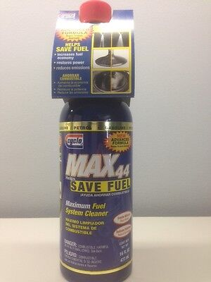 *Set of 12* Cyclo Max 44 Maximum Total Fuel System Cleaner C44 16 oz *FREE SHIP*