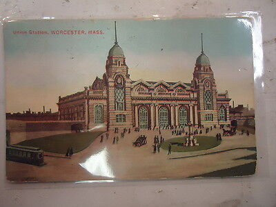 Union Station Worcester. Mass Post Card
