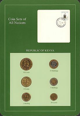 {BJSTAMPS} Coin Sets of All Nations Republic of Kenya 1991-1995 BU