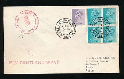 Gb Scotland St Kilda + Benbecula 1979 Ship Mv Pentland Wave