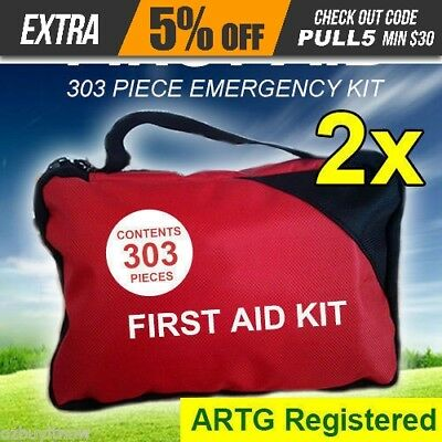 2x 303 Piece Emergency First Aid Kit - A Must Have for Family ARTG Registered