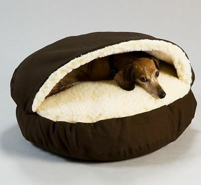 Cozy Cave Pet Dog Puppy Cat Bed Soft Warm Coffee Washable XLarge Small