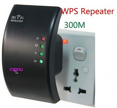 300Mbps Wireless-N 802.11 AP Wifi Repeater Range Extender Router Booster B