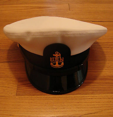 US Navy Uniform - Chief Petty Officer - Combination Cover/Hat  7 3/8