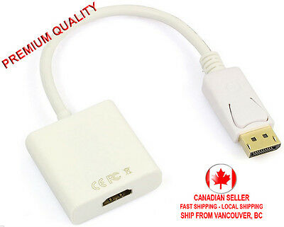 DisplayPort DP to HDMI Cable Adapter HDTV Display Port Converter Male to Female