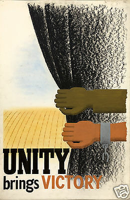 Unity Brings Victory World War 2 Recruitment Poster 12x8 inch reprint
