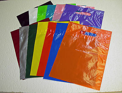 PREMIUM GLOSSY Low-Density Plastic Merchandise Bags U Pick Qty/Color/Size