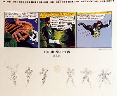 """Green Lantern """"origins"""" Unsigned Lithograph By Gil Kane"""