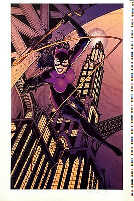 Batman Catwoman Lithograph By Jim Balent (Signed With Bat Logo Remarque)