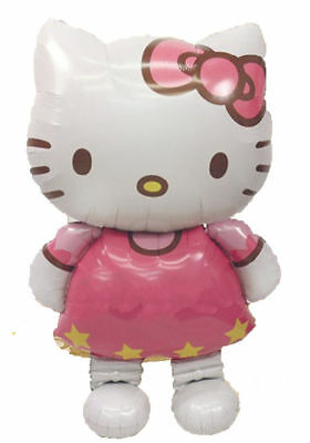 Luftballon Hello Kitty Riesig ca 1m Folienballon Helium mehrmals verwendbar