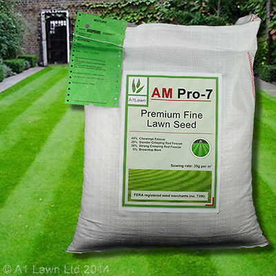 A1LAWN AM PRO-7 PREMIUM FINE FRONT LAWN GRASS SEED 5kg - RYEGRASS FREE (DEFRA)