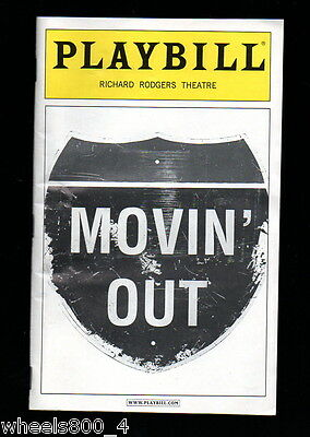 Broadway Playbill MOVIN' OUT September 2004 Richard Rodgers Theatre Excellent