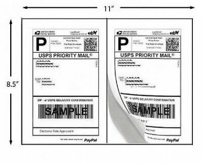 200 Shipping Labels PayPal Click ship FedEx Self Adhesive Laser Inkjet Printer