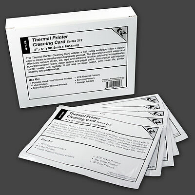 "Thermal Printer Cleaning Card 4""x6"" -  Series 212 (3 Layer) - 25 Cards"