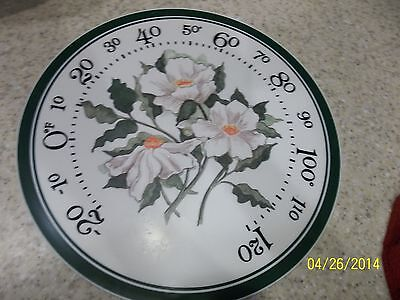 Paper Cardboard Stock White Flowers Orange Leaves Face Dial Tempature Gage