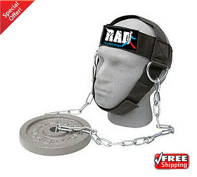 RAD Head Harness Strap Neck Support Dip Weight Lifting Foam Padded With Chain
