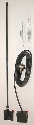 PROCOMM V-CBGM VECTOR ON GLASS MOUNT MOBILE CB RADIO ANTENNA 50W w/16FT CABLE