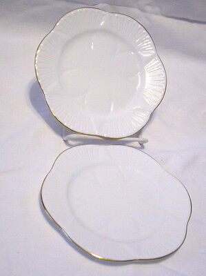 Shelley Dainty White Regency 2 Dessert Bread Plates   6""
