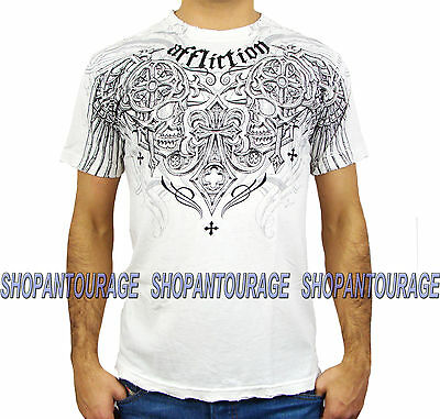 Affliction Deadly Pair A10834 New Short Sleeve Fashion Graphic T-shirt for Men