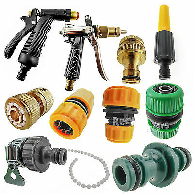 """Pipe Nozzle Fitting Tap Adaptor Connector Garden Car Water Hose 1/2"""" 3/'4"""" LOT"""
