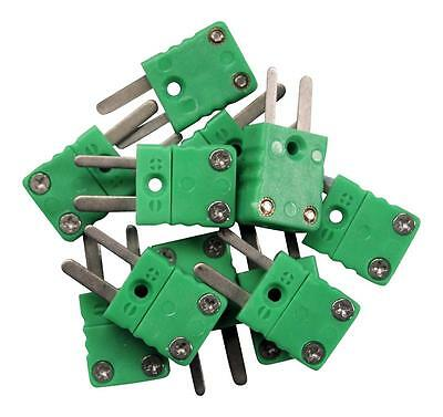10 x K type Male mini connectors, plug,Thermocouple, IEC 584, UK seller