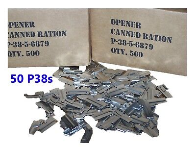P38 P-38 Can Opener 50 Army Military USMC Shelby USA Mess Kit Scout C Ration USN
