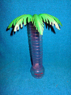 Souvenir Tall Plastic Palm Tree  Drink Cup Glass Senor Frogs Cancun Mexico Bar