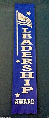 """LEADERSHIP AWARD"" Flag Reward Ribbons (50) ALL NEW!"