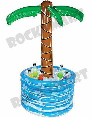 """Palm Tree INFLATABLE Beer Soda Water COOLER Luau Tropical Party 48"""" RM2839"""