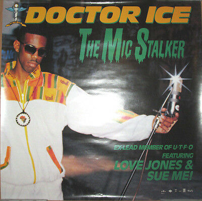 DOCTOR ICE The Mic Stalker, orig 1989 promotional poster, 24x24, EX, UTFO, rap