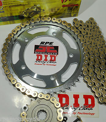 YAMAHA XJ6 '09/13  DID X-Ring GOLD CHAIN AND SPROCKETS KIT *OEM, QA or Fwy