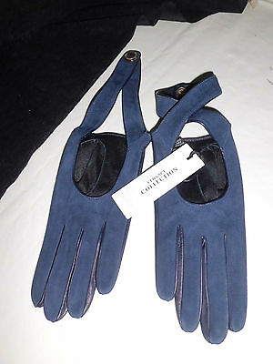 Versace Collection Gloves  Guanti  nappa  Blue € 180,00