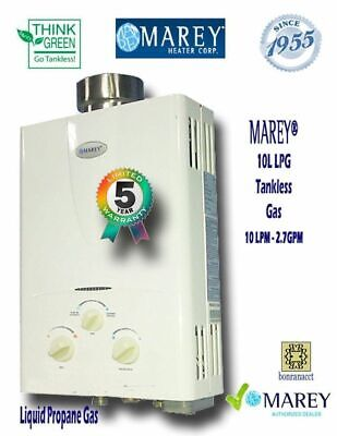 Marey GA10LP Best On-Demand Propane Tankless Water Heater 2.7 GPM